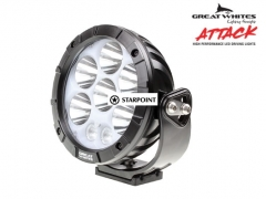 Great White 170mm Attack Round Cree 80 Watt LED Driving Light