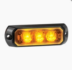 Narva Low Profile High Powered LED Warning Light (Amber) - 3 x 1 Watt LEDs