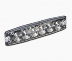 Narva High Powered Low Profile LED Warning Light (Amber) - 6 x 1 Watt LEDs