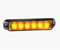 Narva Low Profile High Powered LED Warning Light (Amber) - 6 x 1 Watt LEDs