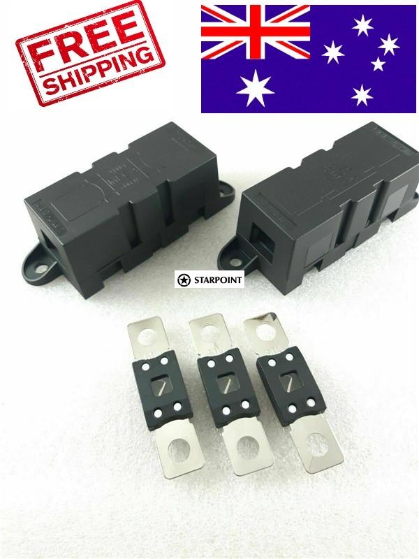 Starpoint Mega Fuse Holder Kit 60 Amp For Dual Battery Systems Inverter 2 X Holder 3 Fuse