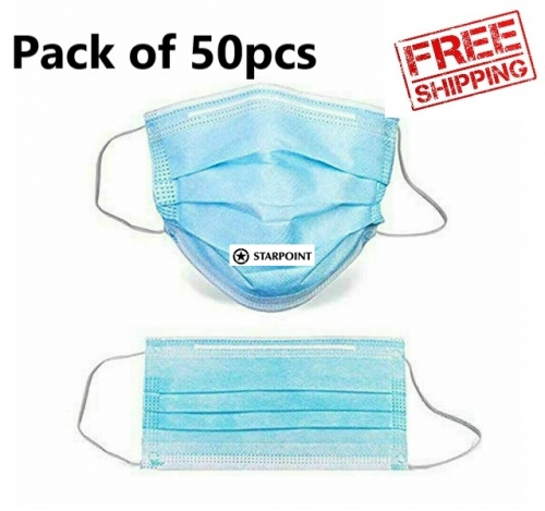 Competitive price Bulk 50pcs Surgical Disposable Face Masks 3 Layer protective Mask filter Same quality as Chemist