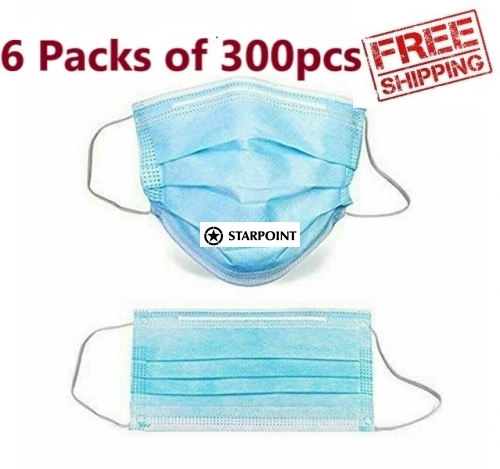 Disposable 300pcs Medical Level Face Masks 3 Layer protective Face mask