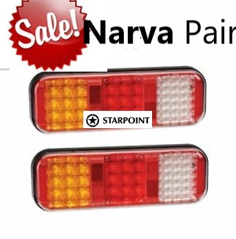 Narva  Pair of 9-33 VOLT MODEL 42 LED REAR STOP/TAIL Light Direction Indicator and Reverse Lamp 94210